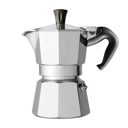 Traditional italian coffee maker. Photo with clipping path.