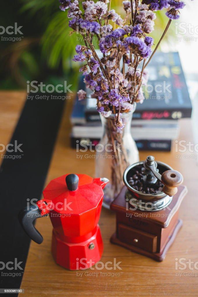 Moka pot stock photo