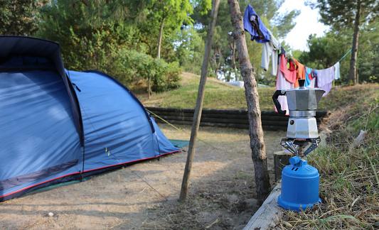 Moka pot to make a good coffee on the camping stove