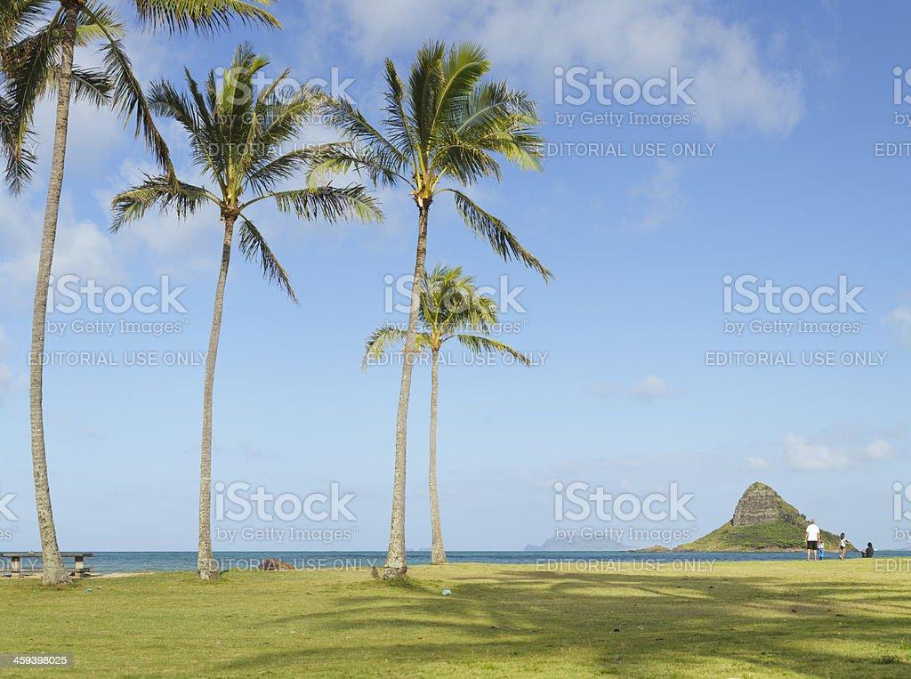 Mokoli'i Island (Chinaman's Hat), Oahu, Hawaii stock photo