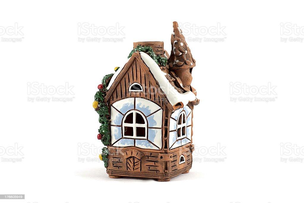 Molar christmas house decoration royalty-free stock photo