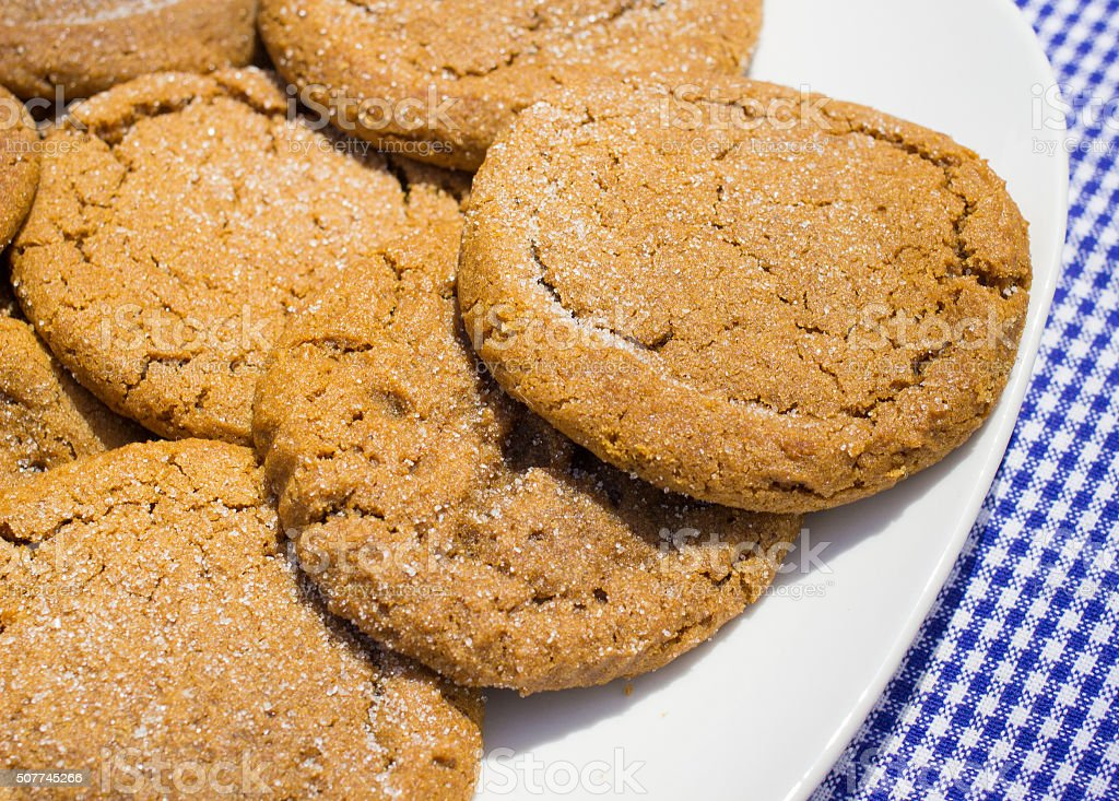 Molasses Cookies Sprinkled With Sugar stock photo