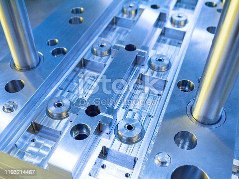 Mold plate and parts in production
