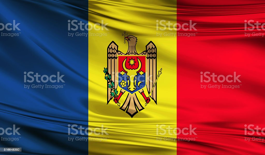 Moldavian flag stock photo