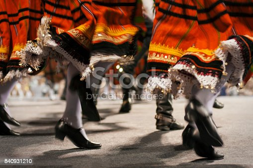 Abstract composition of Moldavian folklore ensemble performance.