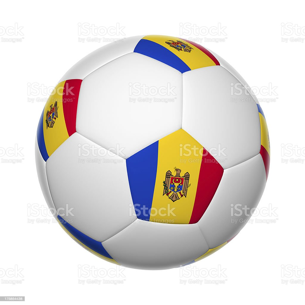 Moldavian soccer ball stock photo