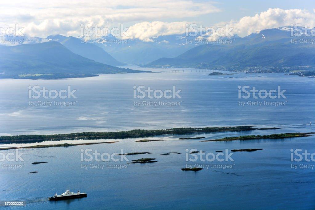 Moldefjord, Norway stock photo