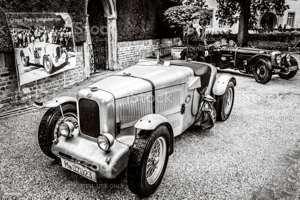 MG Molders Magnette vintage British racing car with an Alvis 12/70...