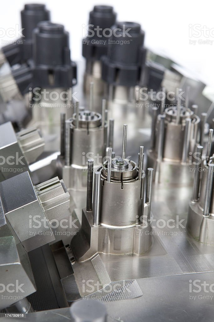 Molding machine stock photo