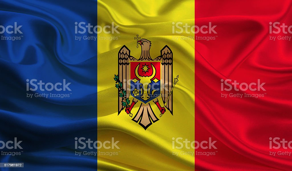 Moldova flag stock photo