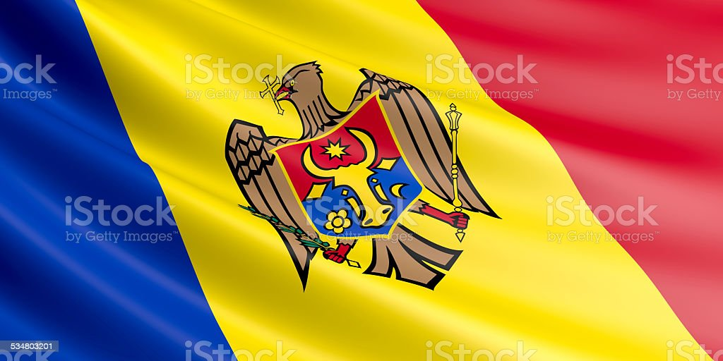 Moldova flag. stock photo