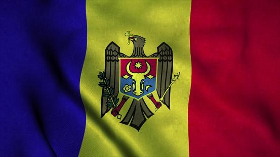 Photo libre de droit de Drapeau Moldavie Agitant Dans Le ...