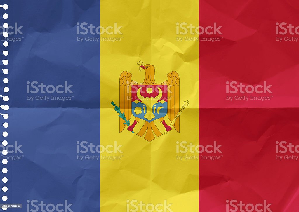 Moldova on a piece of paper royalty-free stock photo