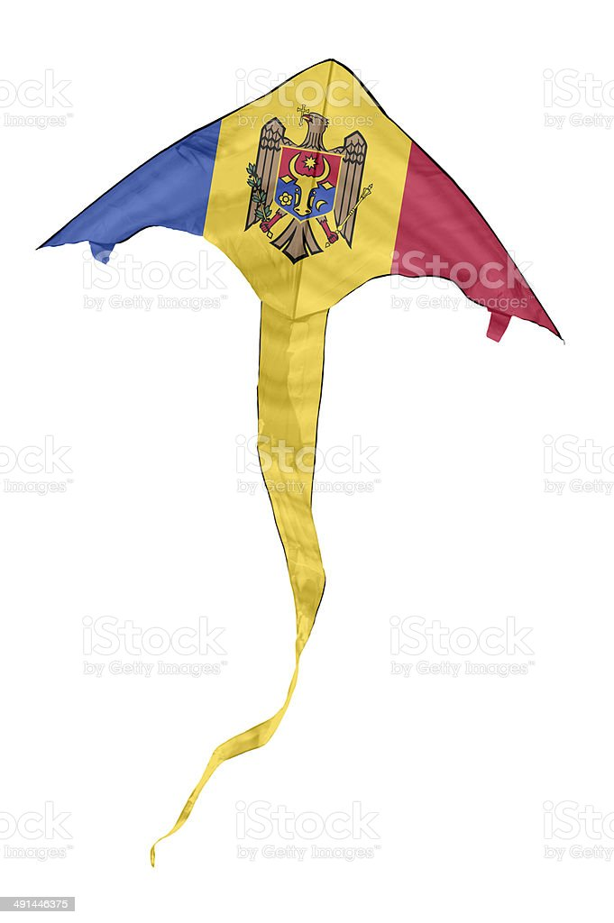 Moldovan Flag Kite stock photo
