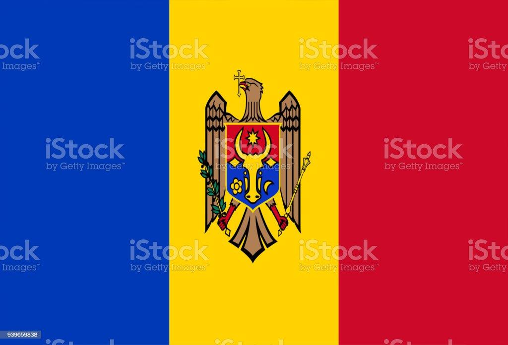Moldovan flag stock photo