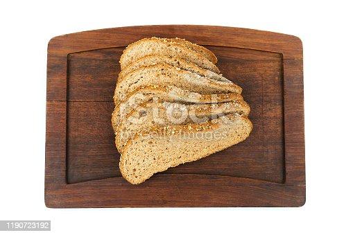 Moldy bread isolated