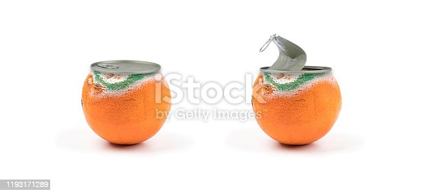 Moldy orange conserve canned on off fruits and vegetables