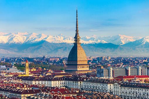 Mole Antonelliana aerial view, Turin