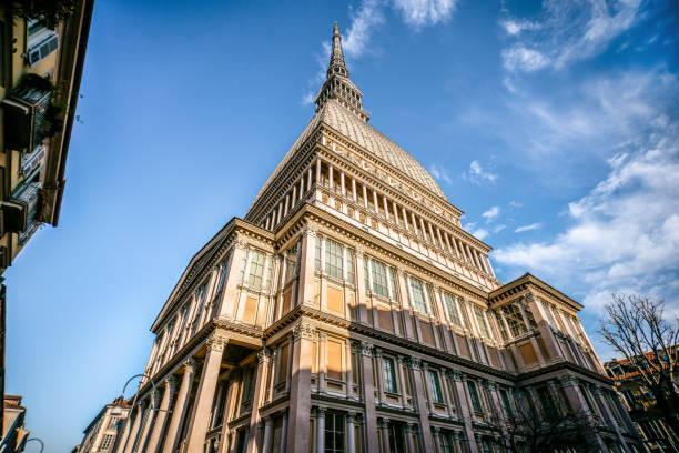 Mole Antonelliana Building in Turin, Italy stock photo