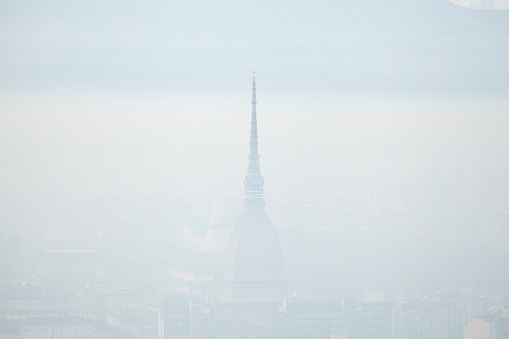 Mole Antonelliana covered with fog