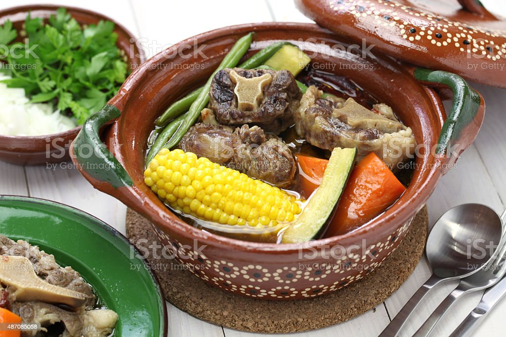 mole de olla, mexican cuisine stock photo