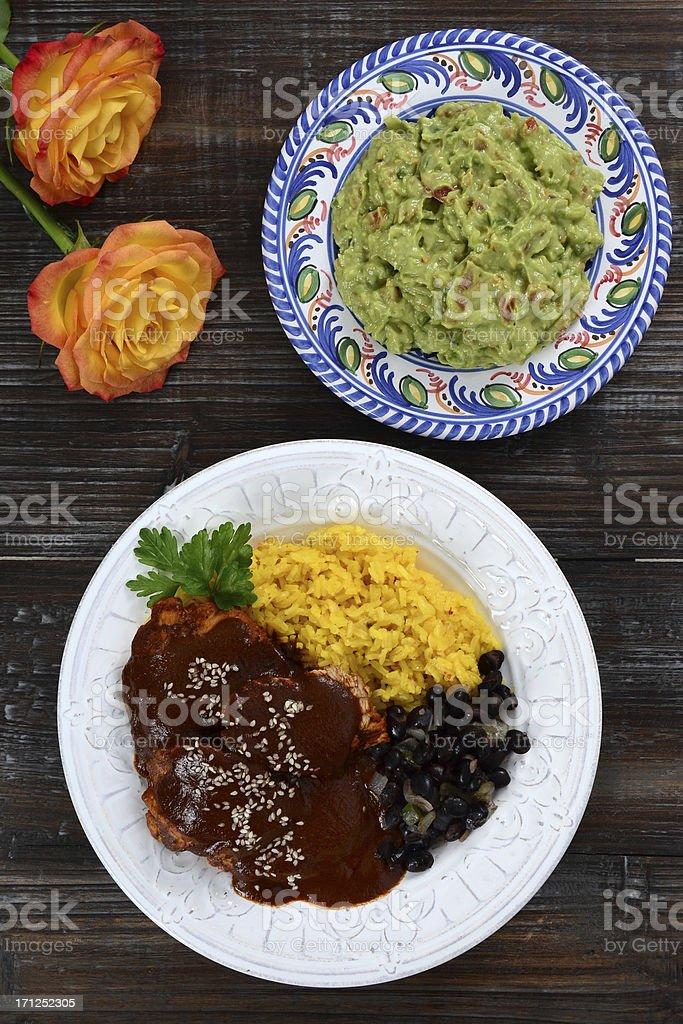 Mole Poblano de Guajolote stock photo