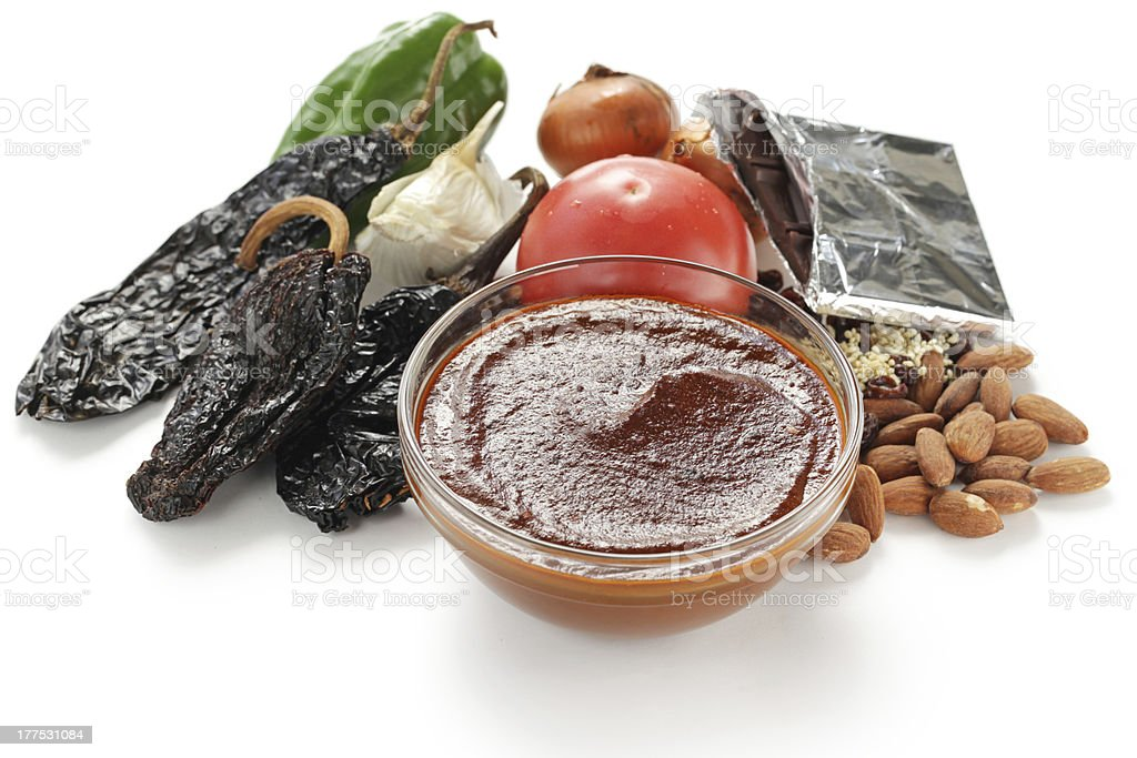 mole sauce, mexican cuisine stock photo