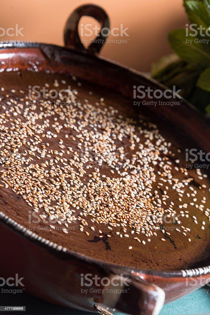 Mole sauce stock photo