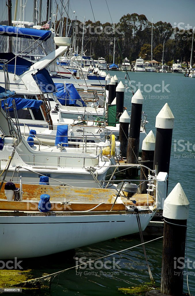 Mole with boat royalty-free stock photo