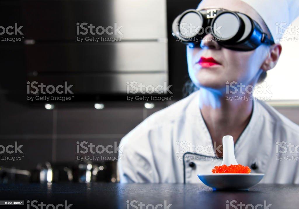 Molecular Chef stock photo