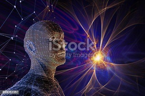 istock molecular cosmos, abstract scientific background 899083382