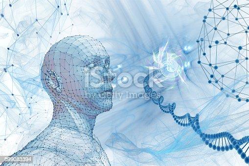 istock molecular cosmos, abstract scientific background 899083394