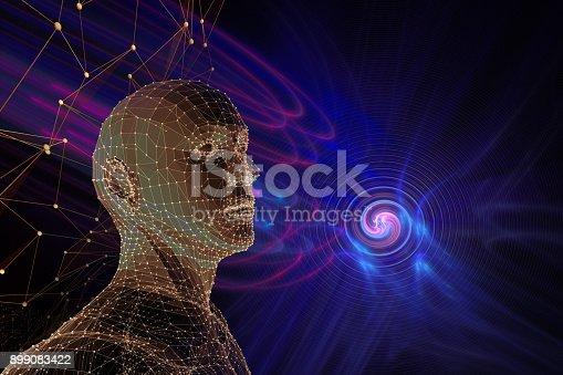 istock molecular cosmos, abstract scientific background 899083422