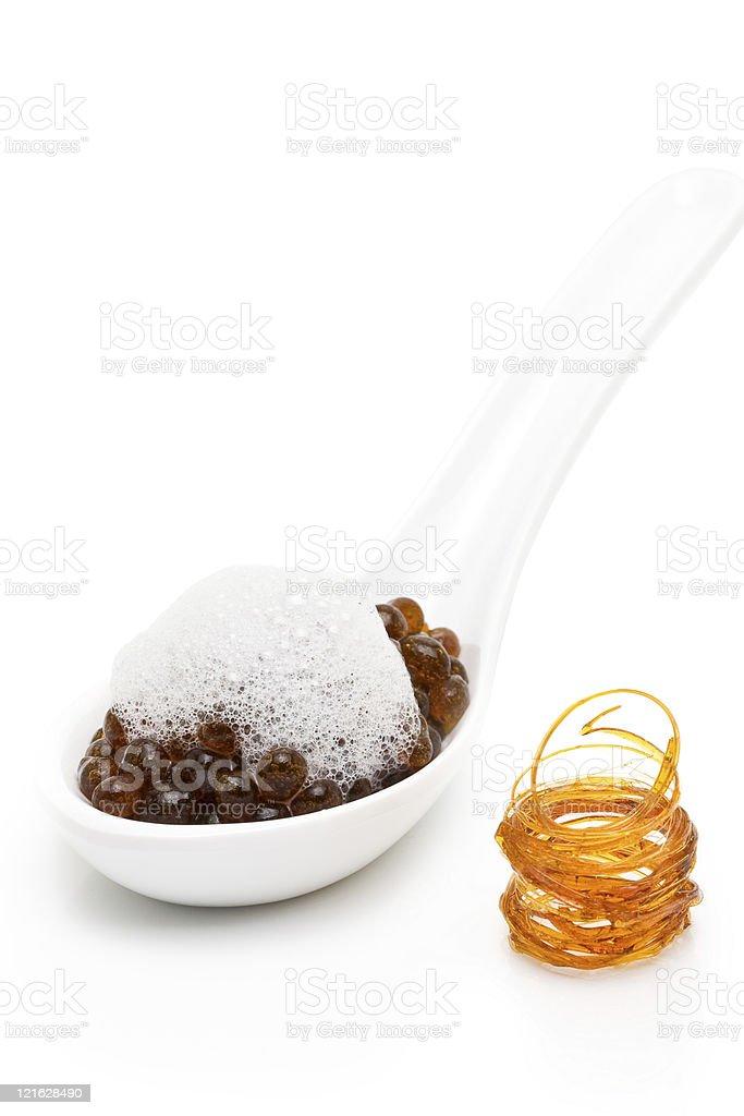 Molecular gastronomy - coffee stock photo