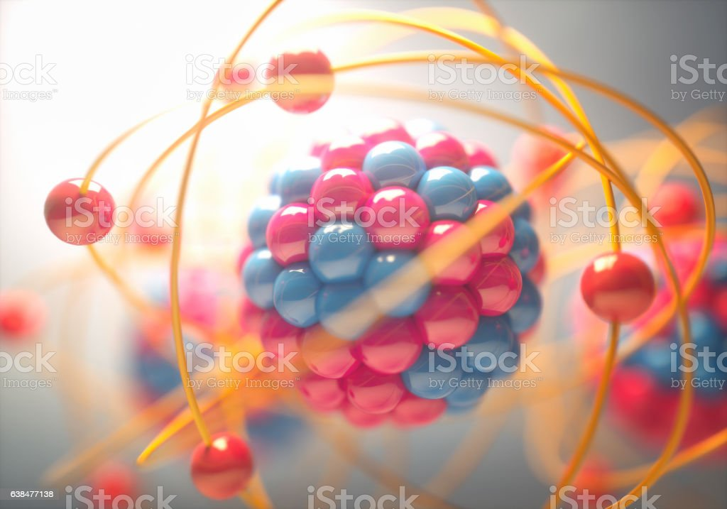 Molecular Model Colorful - Zbiór zdjęć royalty-free (Atom)