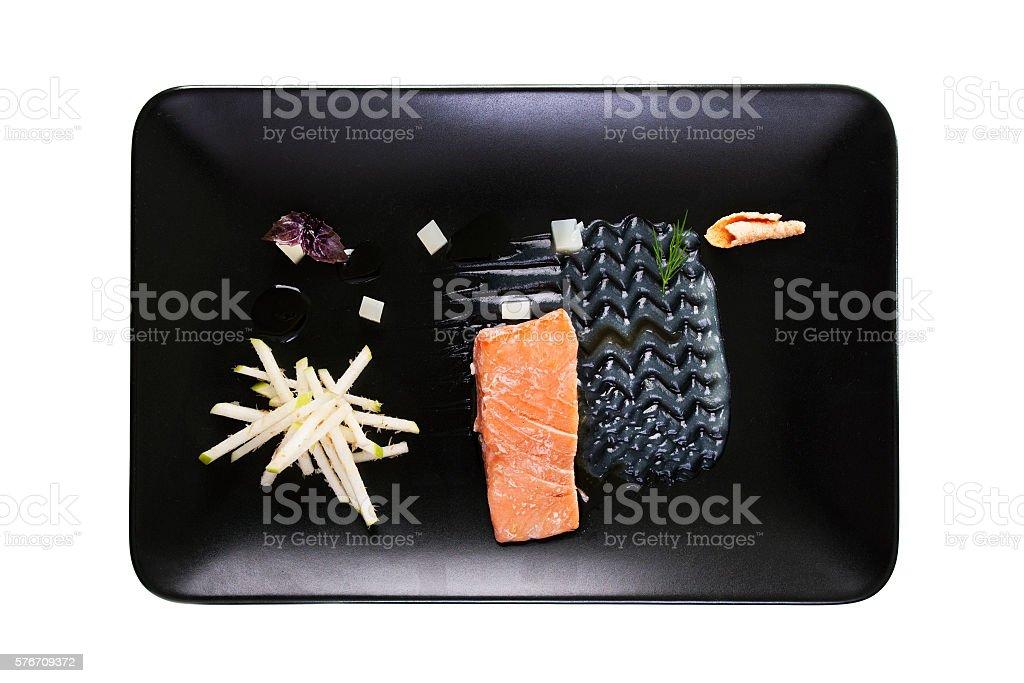 Molecular Modern Cuisine Red Fish Stock-Fotografie und mehr Bilder ...
