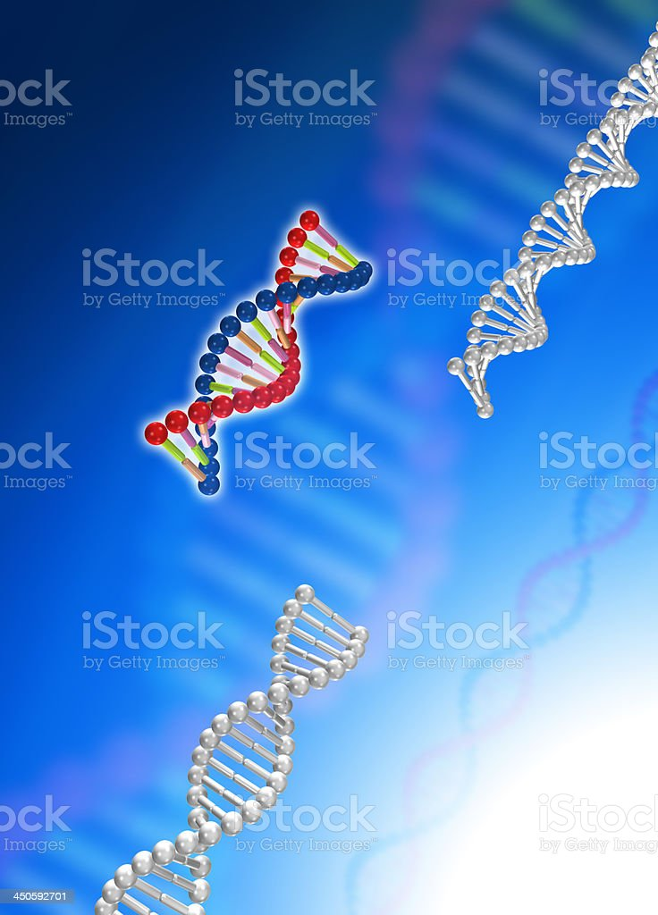 DNA molecular royalty-free stock photo