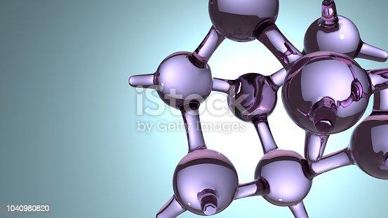 868264184 istock photo Molecular Structure 3d 1040980820