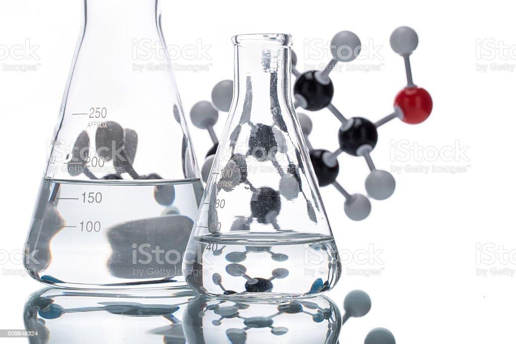 Molekülstruktur Und Becherglas Stock-Fotografie und mehr Bilder von ...