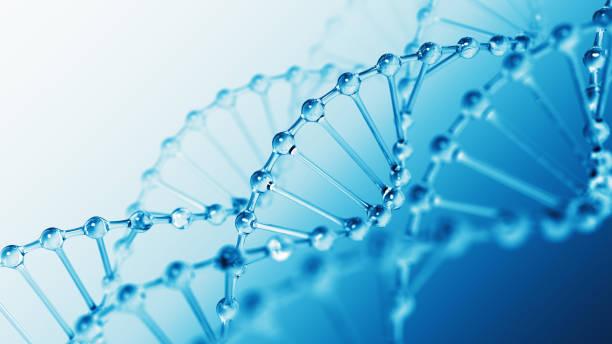 DNA Molecular Structure Aqua stock photo