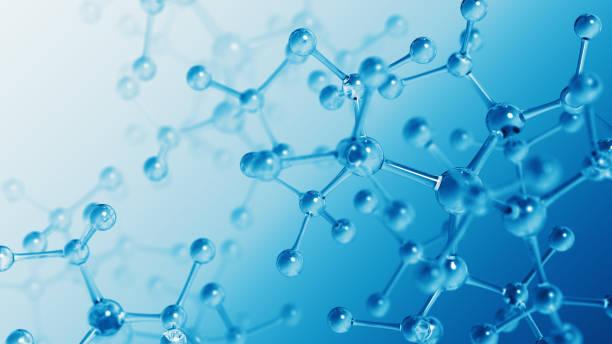 Molecular Structure Blue stock photo