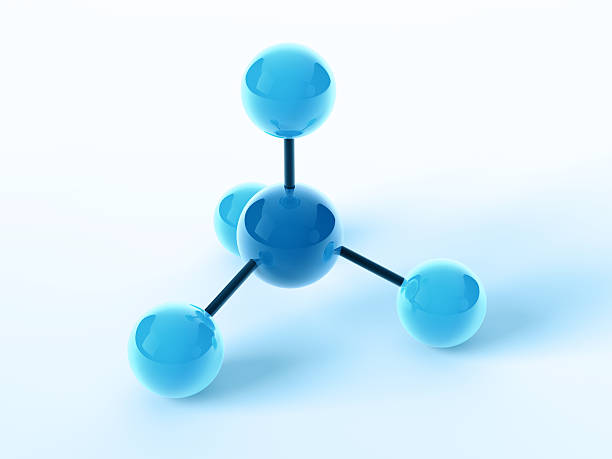 Molecular Structure Chemistry Symbol 3D Render of a blue simplified Molecular Structure Chemistry Symbol. Very high resolution available! molecule 3d stock pictures, royalty-free photos & images