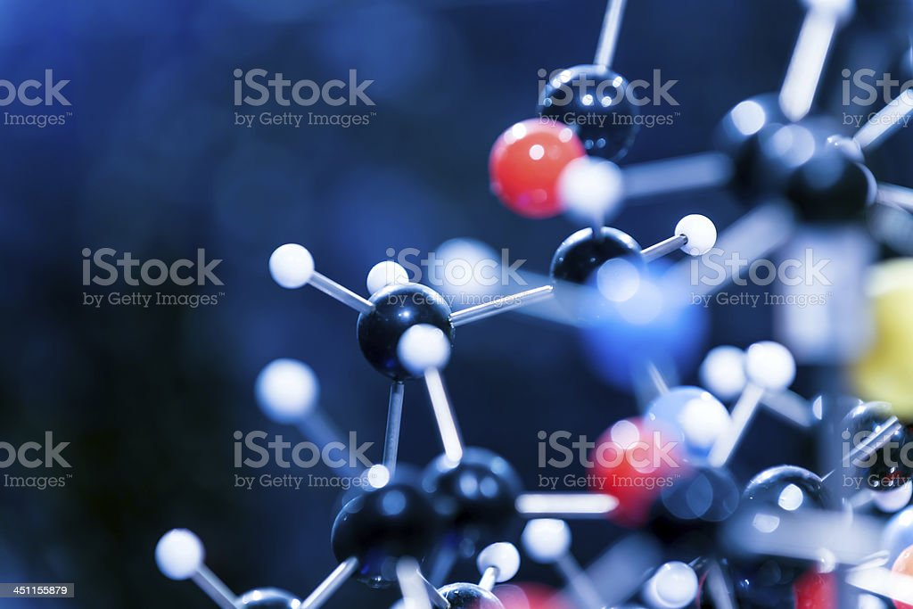 Molecular structure model royalty-free stock photo
