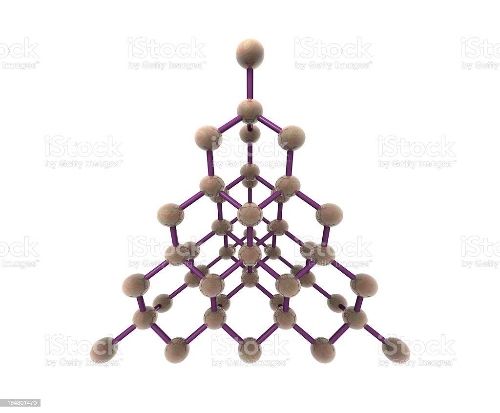 Molecular Structure of Diamond stock photo