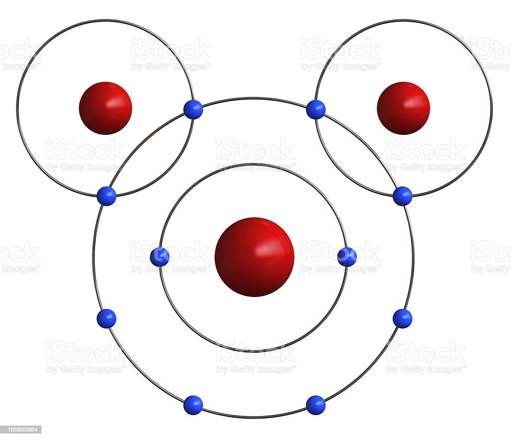 Molecular structure of water stock photo