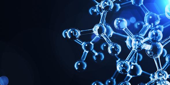 Molecular Structure. Science background. 3D Render