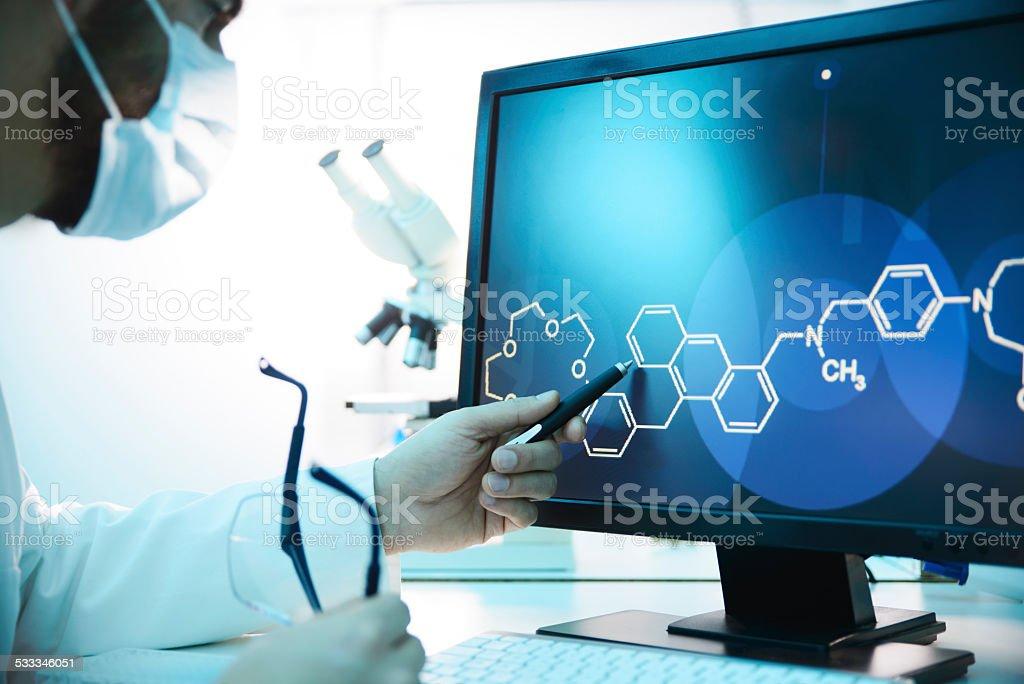 Molecular Structure stock photo