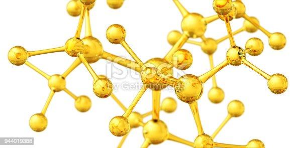 Science background. 3D Render