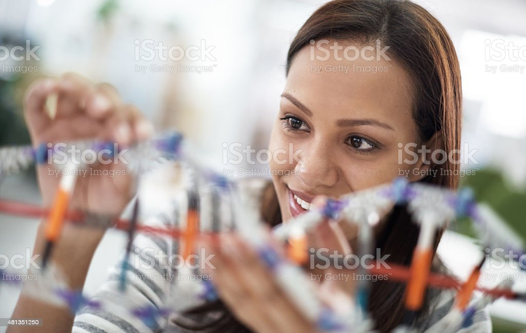 Molecular structures are fascinating stock photo