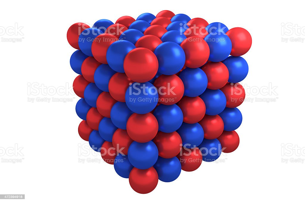 Molecule cubic crystal structure stock photo